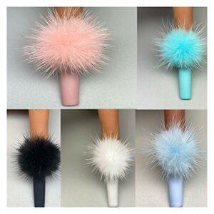 Zeess 10pcs Pompons Pompons Boule 3D Ongles décorations décorations Aimant amincis de Mode Bijoux Moelleux manucure (Color : White)
