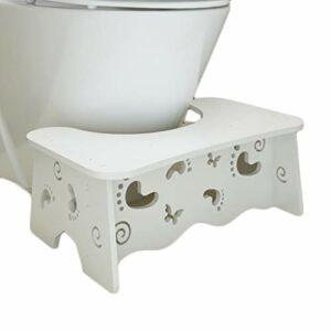 ZYM Tabouret De Toilette Multi-Fonction Tabouret de Toilette Squattty Scratty sans Glissement antidérapante Anti DéRapant Toilette Accroupi (Color : White+Feet, Taille : Conventional)