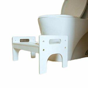 ZYM Tabouret De Toilette Squatting de Bambou réglable Tabouret de Toilette Portable Salle de Bain Squatting Urinoir Hauteur Enfants et Adultes Anti DéRapant Toilette Accroupi