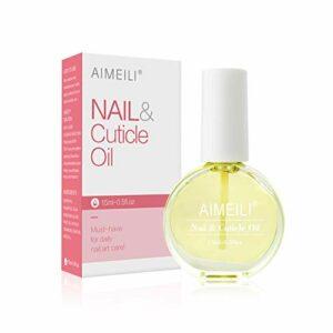 AIMEILI Nail et Cuticle Oil Huile de Traitement pour Cuticules et Ongles Manucure 15ml