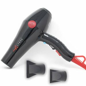 ALTÉAX Sèche-cheveux professionnel 2000W noir avec moteur à longue durée