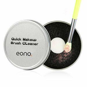 Amazon Brand – Eono Pinceaux Maquillage Cleaner Outil de nettoyage Éponge de nettoyage rapide Supprime l'éponge pour enlèvement de la couleur des ombres