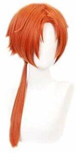 Anime Cosplay Perruques Toilettes Hanako-Kun Orange Mid-Point Simple Single PoneyTail Cos Wig KEEBON