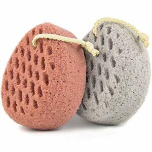BAIMEI éponge de bain, éponge Loofah corps épurateur, pouf de douche éponge de nettoyage Loofahs, éponge d'utilisation de douche (2 pièces)