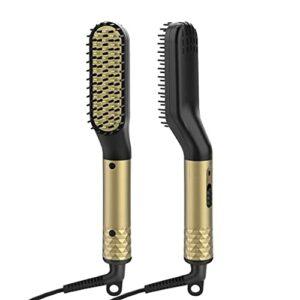BWCGA Peigne à Cheveux Brosse Barbe lisseur Multifonctionnel Peigne à Lisser Les Cheveux bigoudi Rapide Barbe Coiffeur pour Hommes