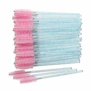 D88, Lot de 50 brosses à cils jetables en cristal pour mascara
