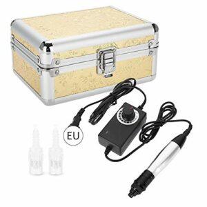 dgtrhted Soins Nano électrique Micro Aiguille Pen Kit Peau for l'acné/Rides/vergetures/Pores dilatés UE