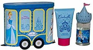 Disney Princess Coffret Cadeau Wagon de Train à l'Effigie de Cendrillon en Métal Eau de Toilette 50 ml/Gel Douche 75 ml 3 Unités