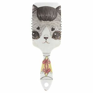 Fantazio Brosse à cheveux pour chat avec grands yeux Idéal pour lisser, lisser, lisser, démêler le dessus sans statistiques