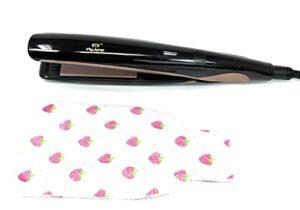Fer à lisser professionnel + gants exfoliants   tourmaline   multifonctionnel, pour cheveux sans dommages (plaque-cheveux-nier)