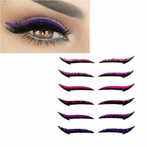 Heroicn Réutilisable Eye-Liner Autocollants Couleurs Maquillage Maquillage Faune Face Cat Eye Smokey Cosmétique Ruban (Color : A)