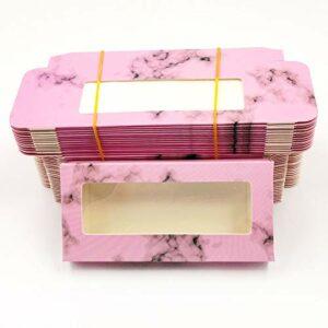 HLWJ Coups de Fouet holographiques boîte 20/50/100 / 200pcs Cils en Papier Doux Emballage for Faux Cils (Color : P, Size : 200box)
