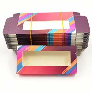 HLWJ Coups de Fouet holographiques boîte 20/50/100 / 200pcs Cils en Papier Doux Emballage for Faux Cils (Color : Q, Size : 200box)