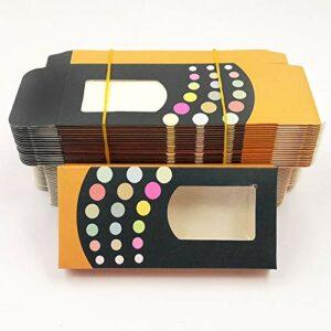 HLWJ Coups de Fouet holographiques boîte 20/50/100 / 200pcs Cils en Papier Doux Emballage for Faux Cils (Color : R, Size : 200box)