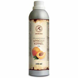 Huile de Noyau Abricot 250ml – Prunus Armeniaca Kernel Oil – 100% Pur et Naturel – Huile de Base – Huile Corporelle – Hydratant – Propriétés Revitalisantes – Soins Intensifs pour le Visage – Corps