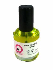 Huile nutritive pour cuticules, soin réparateur,Purenail, flacon 15 ml, Parfum Citron