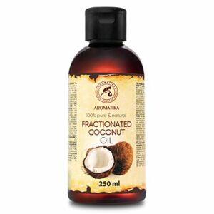 Huile Végétale de Coco – 250ml – Cocos Nucifera – Pressée à Froid – Huile de Support – Soins du Visage – Huile pour la Peau – Huile pour le Corps – Huile de Bain – Soin Peaux Sèches, Cheveux