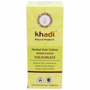 Khadi Coloration Végétale Senna Cassia Naturel Soin capillaire sans effet colorant