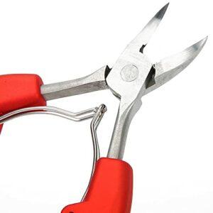 Kit de pédicure rainurée pour ongles – Pour la santé des pieds – Pour femme – Pour callosités et beauté des pieds (rouge)