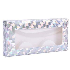LotCow Lot de 50 boîtes de rangement en plastique pour faux cils avec 50 plateaux pour soins des faux cils et cosmétiques