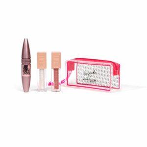 Maybelline New York – Trousse Maquillage Mayadorable – Cils Sensational Very black, Lifter Gloss 001 et 002 – édition limitée x Mayadorable