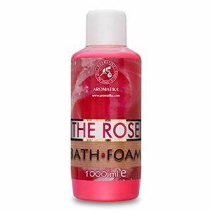 Mousse de Bain à Huile Essentielle de Bois de Rose 1000 ml – Soin du Corps – Bon Sommeil – Beauté – Bain – Soin du Corps – Bien-être – Détente – Aromathérapie – Spa