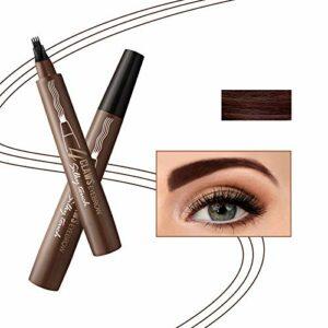 Onlyoily Tatouage Crayon à Sourcils avec 4 conseils Imperméable à l'eau & Longue Durée Crayon d'encre Croquis de Stylo de Sourcil pour le Maquillage Naturel d'yeux (02)