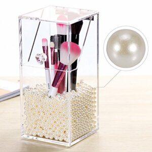 «Perle Artificielle, 1500pcs/sac Plastique Perles Rondes Avec Aucun Trou DéCoration Perle pour Perles De Maquillage de Vase Porte-Brosses (Blanc)