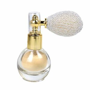 Poudre Pressée En Vrac Poudreur, Poudre Scintillante Spray, Beauté Mousseux Shimmer Étincelle Poudre, Maquillage Corps Poussière Glitter Blanc