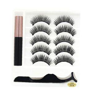 Produits de beauté artificielle Soins des cils Set 3d naturel artificiel avec Cils Eyeliner réutilisable artificielle Cils brucelles Kit Natural Look