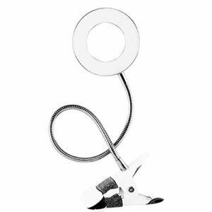 Timagebreze Maquillage Illuminateur éQuipement Lampe de Tatouage avec Pince USB Lampe à LED LumièRe Froide Sourcil Extension de Cils le Salon de Beauté
