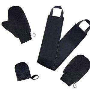 TongICheng Autobronzant Mitt Applicateur Kit Crème Lotion Smudge Outil Gants De Nettoyage Du Corps 4pcs Noir