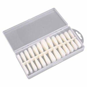 TYWZJ 260Pcs Coffin Nails Conseils Appuyez sur Les Ongles Clear Full Cover Nails Ongles en Acrylique Faux Ongles Conseils pour Les Salons de manucure et Bricolage Nail Art Couleur de la Peau, Conv