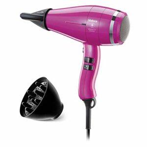 Valera Sèche-cheveux ionique professionnel Vanity Comfort – Ultra léger – Séchage silencieux et rapide – 2000 W – Rose vif