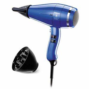 Valera Sèche-cheveux ionique professionnel Vanity Hi-Power, durable et puissant, moteur numérique 2400 W, couleur bleu roi