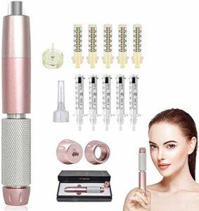WFWPY 2 In1 Hyaluron Pen, Hyaluronique Nébuliseur Stylo D'injection avec 10 Ampoules(0.3ml/0.5ml pour Acides Seringue Jetable Stérile pour Les Lèvres De Levage Anti-Rides