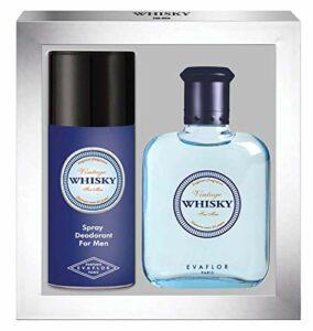 WHISKY Vintage • Coffret Eau de Toilette 100ML + Déodorant 150ML • Vaporisateur • Spray • Parfum Homme • Cadeau • EVAFLORPARIS