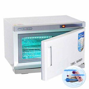 ZZYYZZ 2 en 1 Professionnel Hot Towel Warmer Cabinet 16L Haute Capacité UV Stérilisateur Spa Désinfection Faciale Salon Beauté
