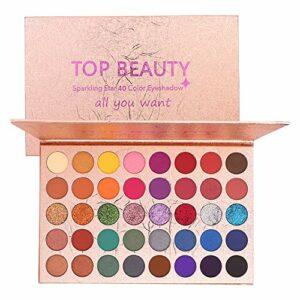 40 couleurs palette de fard à paupières de couleurs vives mélange de matité et de reflets fard à paupières métallisé imperméable poudre lisse lisse naturel brillant artiste palettes de maquillage