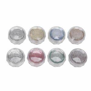 8 Pcs Nail Glitter Coloré Ménage Nail Glitter Poudres Poudre Manucure Poudre DIY Mobile Téléphone Cas Décorations Art Nail Art Beauté Design Visage Corps Glitter Maquillage Poudre