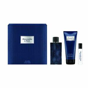 ABERCROMBIE & FITCH 16343 Coffret First Instinct Blue homme Eau de Toilette Vaporisateur 100 ml + Format voyage 15 ml + Gel douche 200 ml