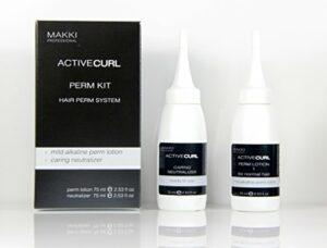 Active Curl Perm System Kit 01 pour cheveux normaux : lotion permanente alcaline douce et neutralisant soin