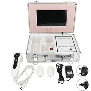 Analyseur de Cheveux de Diagnostic de Peau, Écran LCD de 9 Pouces Scanner de Peau du Visage Avec Objectif 50x 200x, Numérique Système de Scanner de Diagnostic Cutané Professionnel et Précis(EU)