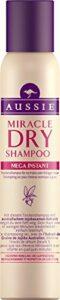 Ancienne version – Aussie – Miracle Mega Instant Shampoing Sec pour Cheveux Normaux à Gras – 180 ml