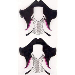 Autocollant de formes d'art d'ongle, 20/50/100/500 PCS Nouveau Alliage Plastique Black Cheveux Formes Formulaires Nail Art Extension Français Conseils Français Outils de manucure Gel UV pour femmes fi