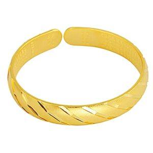 Beau et noble Bracelet en laiton d'or épais, bracelet de douche fine météore, bracelet de sable de pulvérisation push-push-push-push-push-pull pour la mode à la mode bijoux en or (Gypsophila) Donner u