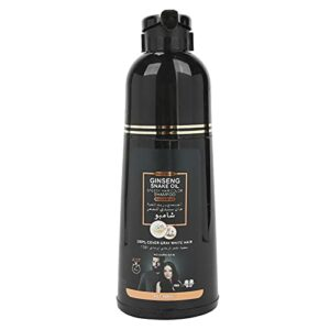 Blacken Hair Shampoo, Dye Hair Cleanser For Covering Grey, Doux Ingrédients Lavage de Cheveux Végétal pour Homme et Femme Nettoyage Quotidien Adoucit, Renforce et Améliore la Brillance pour