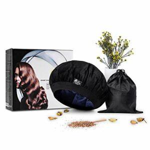 Bonnet chauffant pour soins capillaires 100% naturel aux graines de lin-Soins de cheveux masque-Parfaitement ajustable à votre tour de tête-Sans fil-Micro-ondes-Réutilisable-Économique- Écologique.