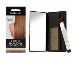 Color Harmony Poudre Retouche Racines Cheveux: Couvrant les Racines Foncées de votre Couleur: Waterproof Résistant à l'Eau Mascara Correcteur de Racines (Châtain Clair)