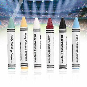 Crayons de couleur fluorescents pour enfants – Pour le visage des enfants – 6 couleurs fluo – Corps au henné